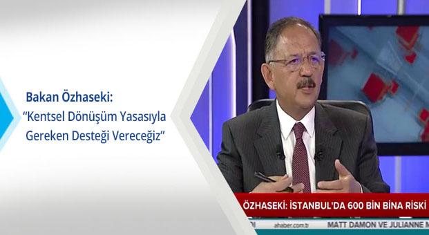 Bakan Özhaseki: Kentsel dönüşüm yasasıyla gereken desteği vereceğiz