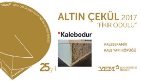 """25. Altın Çekül """"Yapı Ürün Ödülü ve Fikir Ödülü"""" açıklandı"""