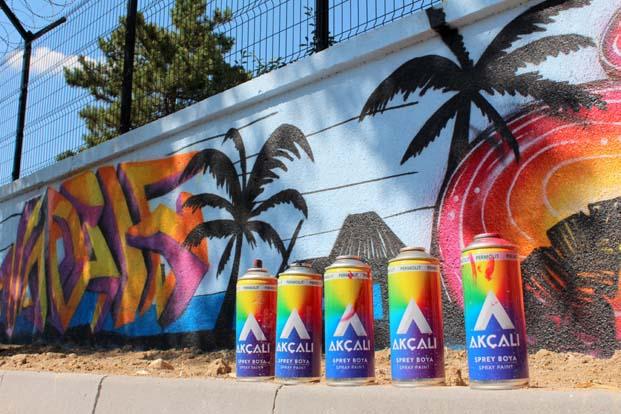 Ankaralı Sokak Sanatçıları Duvarları  Akçalı Sprey ile renklendirdi