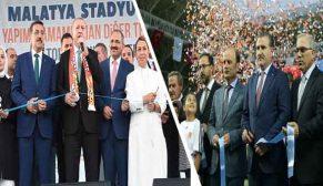 Malatya Stadyumu'nun açılışı Cumhurbaşkanımız Recep Tayyip Erdoğan tarafından yapıldı