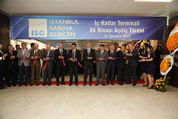 İstanbul Sabiha Gökçen'in yolcu kapasitesini 41 milyona çıkaracak Yeni İç Hatlar Terminal Binası hizmete açıldı
