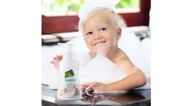 Siveno'dan yüzde 100 Doğal Bebek Köpük Şampuan
