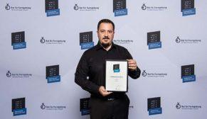 Technowood Münih'te düzenlenen Iconic Awards ödül töreni'nde  birincilik ödülünü teslim aldı!