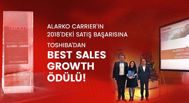 """Alarko Carrier """"EMEA Bölgesi-En İyi Satış Büyümesi"""" ödülünü aldı"""