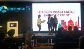 Türkiye'nin lider yeşil bina şirketi Altensis Avrupa'da da birinci