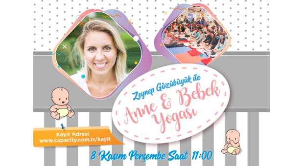 Zeynep Gözübüyük ile Anne&Bebek Yogası devam ediyor