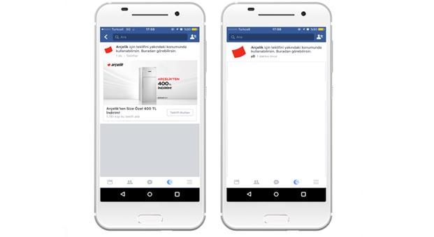 Facebook Offer Ad Yayınını, Türkiye'de ilk defa Arçelik kullandı