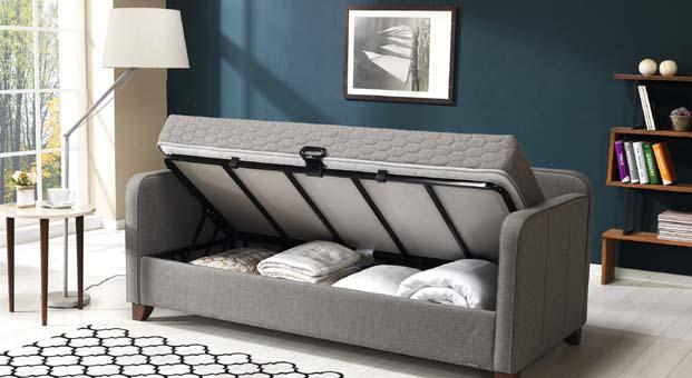 Hem yatak, hem sandık, hem kanepe küçük alanlarda büyük konfor: Armis Daybed