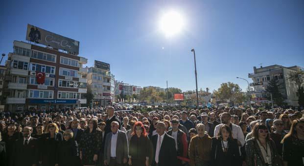 Ankara'nın simgesi Atakule 29 Ekim'de ışık saçtı