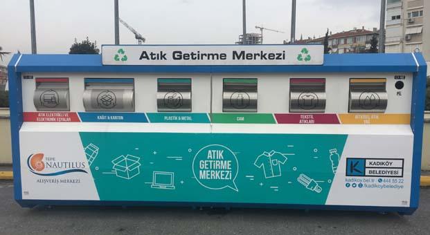 Kadıköy'ün ilk atık getirme merkezi Tepe Nautilus'ta