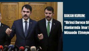 Bakan Kurum, Nevşehir'in Kapadokya bölgesinde devam eden yıkım çalışmaları hakkında bilgi verdi