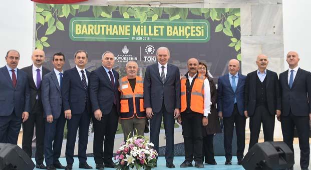Baruthane Millet Bahçesi için tarih verildi