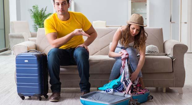 Erkekler 2 saatte kadınlar 2 günde valiz hazırlıyor