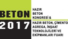 Hazır Beton, Çimento, Agrega ve İnşaat Sektörleri Beton 2017 için geri sayım
