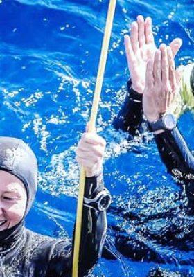 Birgül Erken su altında bisiklet kullanarak dünya rekoru kırmayı deneyecek