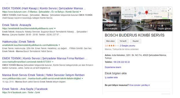 """Bosch Termoteknik'ten tüm yetkili servislerine """"Google Benim İşletmem"""" desteği"""