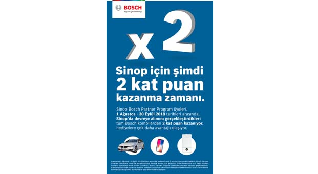 Bosch Partner Program'dan Sinop'a özel kampanya