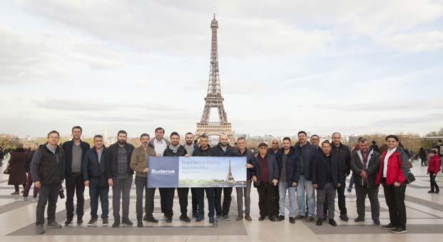Buderus yetkili bayileri başarılarını Paris'te taçlandırdı