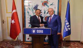 Bakan Özhaseki'den Bursa'nın dönüşümüne destek