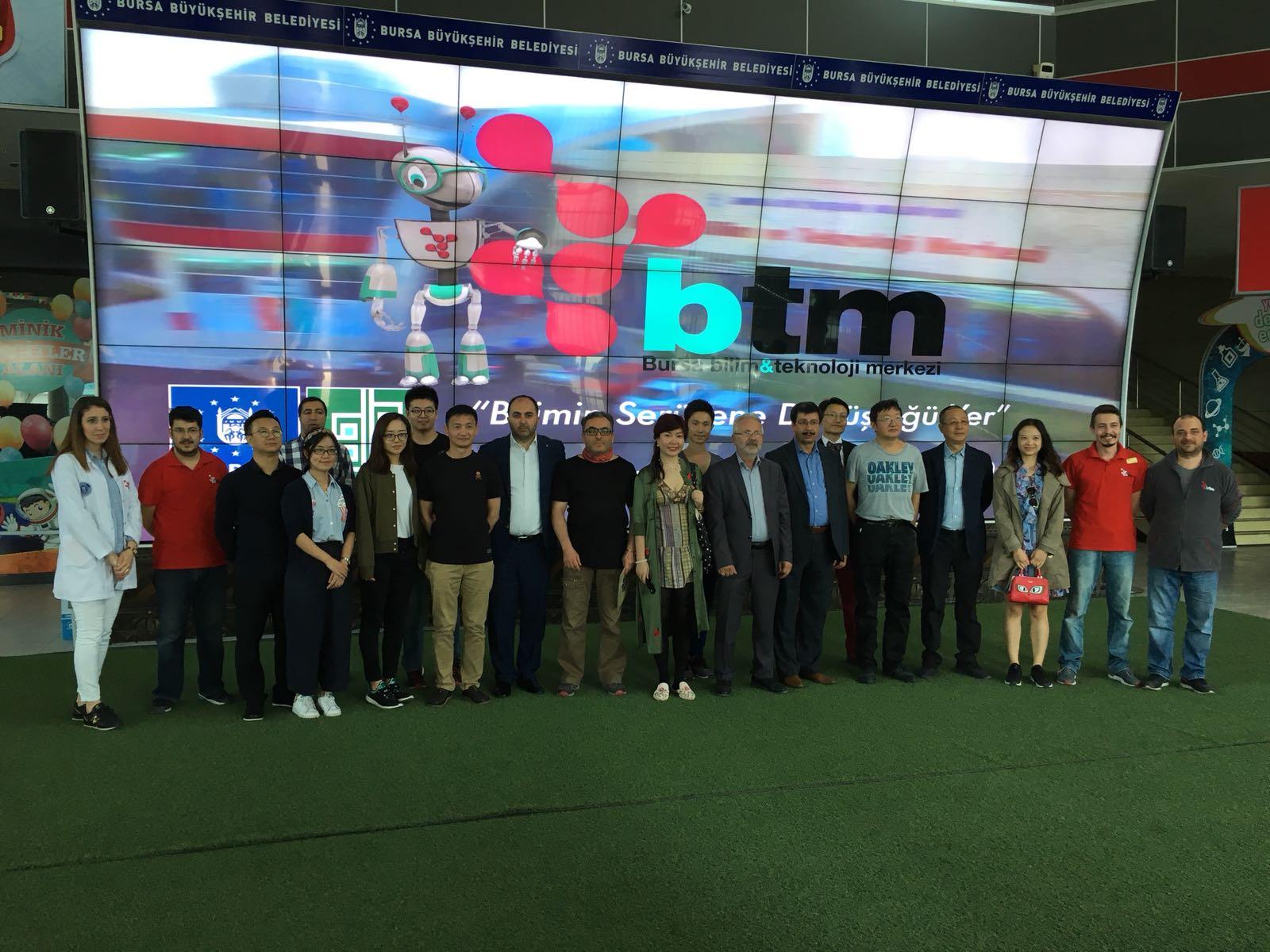 Çinli gazeteciler BTM'ye hayran kaldı
