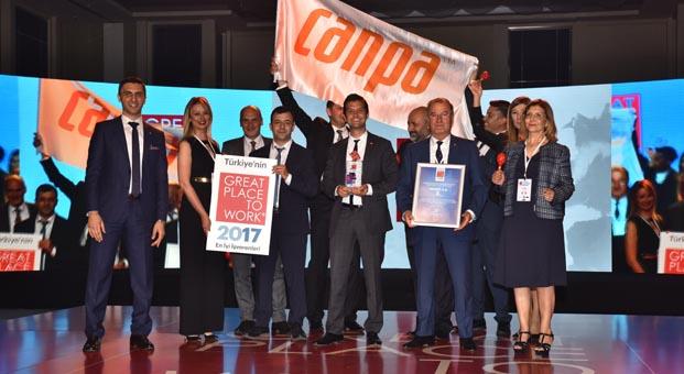 Canpa Türkiye'nin en iyi işverenleri arasında