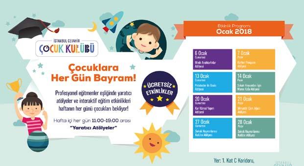İstanbul Cevahir'de çocuklara her gün bayram