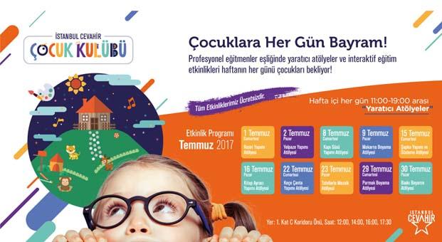 Yaz tatiline renk katmak isteyen çocuklar İstanbul Cevahir'de