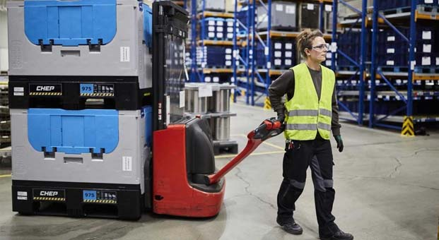 CHEP'in katlanabilir plastik konteynerleri zaman ve maliyet tasarrufu sağlıyor