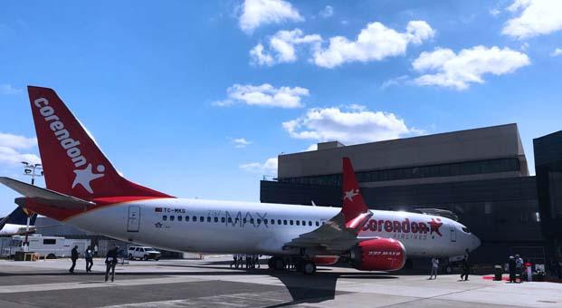 Corendon Airlines filosuna 3 yeni Boeing 737 Max 8 daha katılıyor