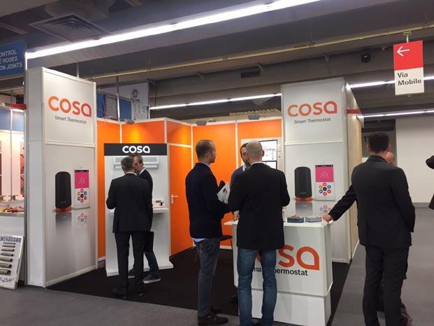 Akıllı oda termostatı COSA, ISH 2017 Fuarında dünya sahnesinde