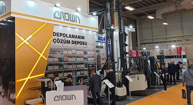 Temsa İş Makinaları Avrasya Ambalaj Fuarı'nda Crown depo ekipmanlarını tanıttı