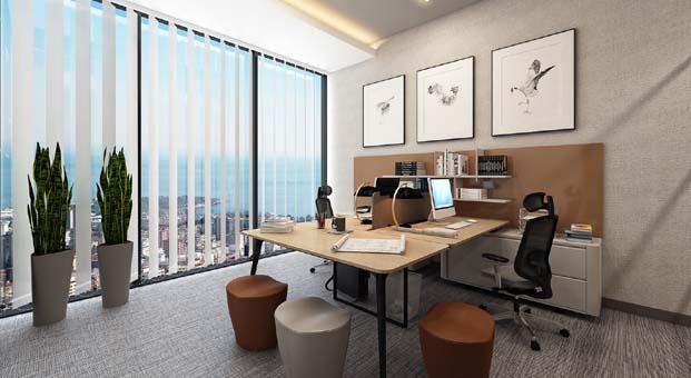 Gönye Proje Tasarım: Ofis tasarımları meslek gruplarının karakterlerine göre biçimlenmeli