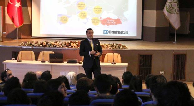 DemirDöküm, Karabük Üniversitesi'ndeki genç mühendislerle buluştu