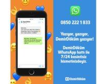 DemirDöküm WhatsApp Hattı ile tüm hizmetlerini tek tıkla erişilebilir hale getirdi
