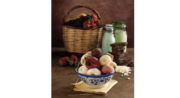 Doğal malzemeler ile rengarenk dondurmalar