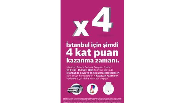 Bosch Partner Program'dan İstanbul'da 4 kat puan kampanyası