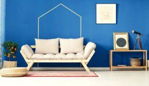 Dyo'nun mavi-turkuaz renk damlası kartelası ile huzurlu ve dingin mekanlar