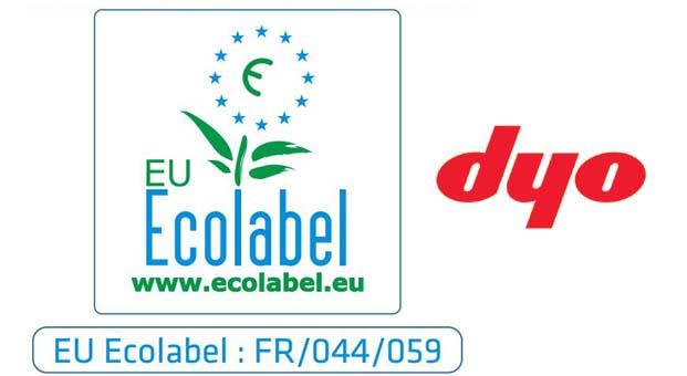 DYO, Türkiye'de sektöründe AB EKO-etiketi (EU ECOLABEL) alan ilk firma oldu