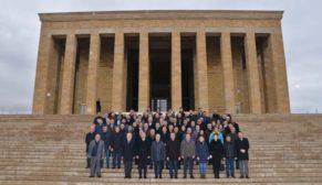 Dyo'dan Anıtkabir'e Ata'yı anma ziyareti