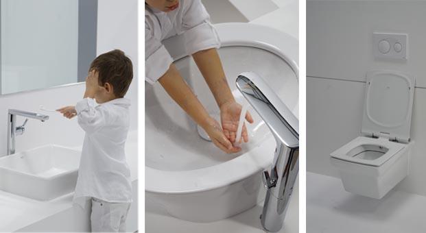 Banyo ve mutfaklarda yeni moda kendi kendini temizleyen lavabo ve klozetler
