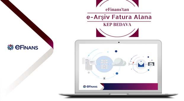eFinans'tan e-Arşiv Fatura alan firmalara KEP hediye