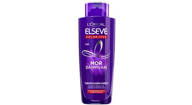 L'Oréal Paris Elseve Mor Şampuan ile ilk kullanımdan itibaren saçlarda turunculaşmaya son!
