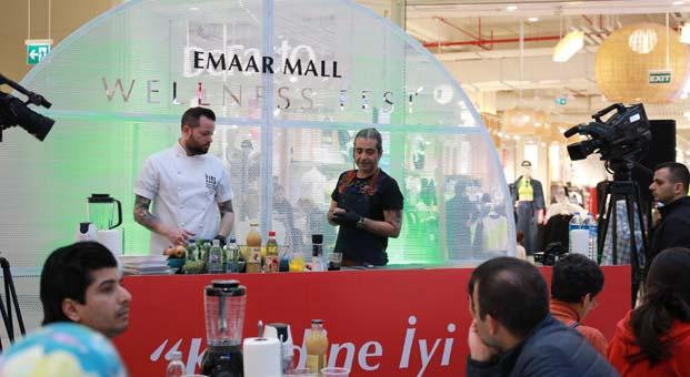 Emaar Mall Wellness Fest'te Dilara Koçak ve Hazer Amani'yi ağırladı