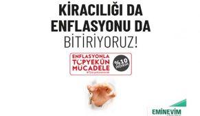 Enflasyonla mücadeleye Eminevim'den tam destek