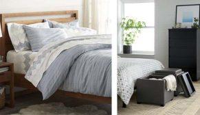 Crate and Barrel'dan yatak odası için tasarım ve dekorasyon önerileri