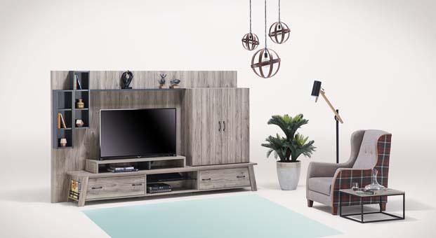 Estetik bir dokunuş, fonksiyonel bir yorum: Limyra TV Ünitesi