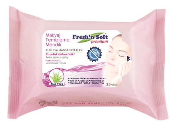 Makyaj temizleme mendilinde yeni dönem; Fresh'n Soft Aloe Vera