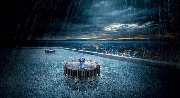 Geberit Pluvia'dan 10 dakikada 50 kilogram yağış drenajı