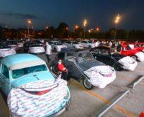 Gebze Center AVM'de üç günde 1500 kişi arabalı açık hava sineması izledi