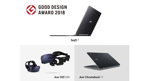 Acer ürünleri 2018 Good Design Awards ile ödüllendirildi
